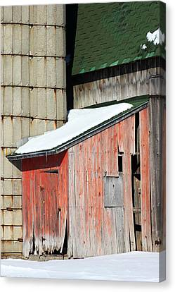 Barn Parts 12 Canvas Print by Mary Bedy
