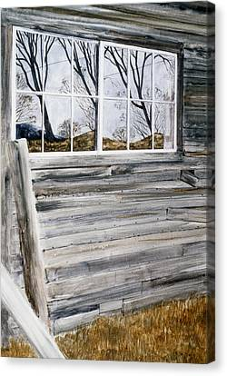 Barn Reflection Canvas Print by Karol Wyckoff