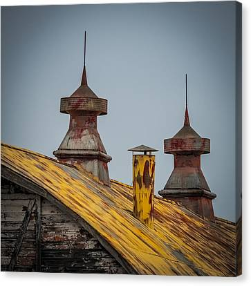 Barn Roof In Color Canvas Print by Paul Freidlund