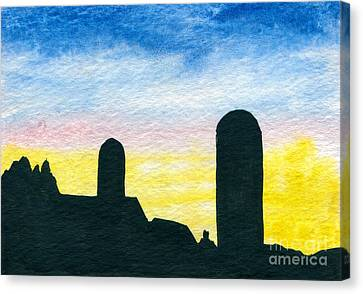 Barn Silhouette 1 Canvas Print
