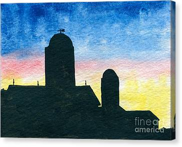 Barn Silhouette 2 Canvas Print