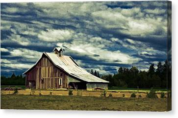Barn Canvas Print by Steve McKinzie