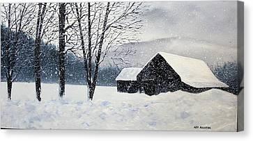 Barn Storm Canvas Print by Ken Ahlering