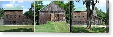 Barn Triptych Canvas Print by Kerri Mortenson