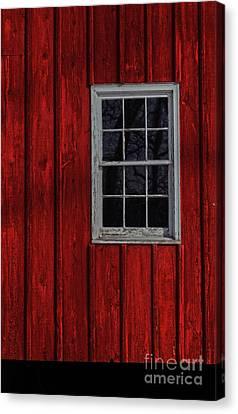 Canvas Print featuring the photograph Barn Window by Debra Fedchin