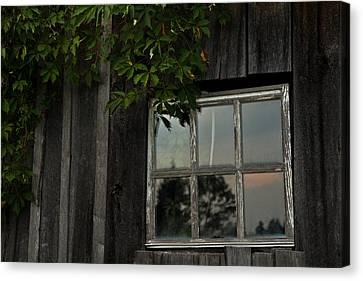 Barn Windows Canvas Print - Barn Window by Shane Holsclaw
