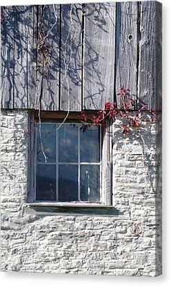 Barn Window Canvas Print by Sheila Byers