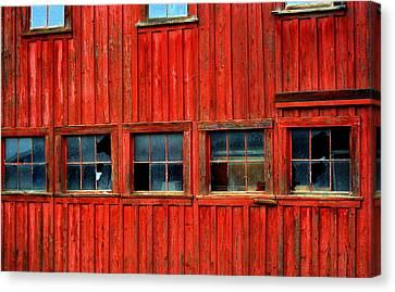 Barn Windows Canvas Print by Mamie Gunning