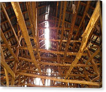 Canvas Print featuring the photograph Barn With A Skylight by Nick Kirby