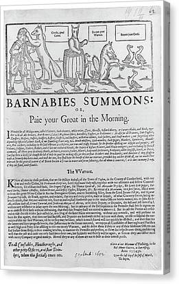 Morn Canvas Print - Barnabies Summons by British Library