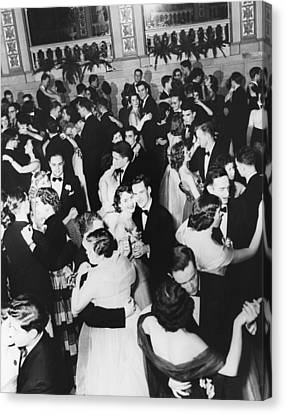 Barnard College Prom Canvas Print by Underwood Archives