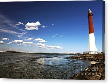 Barnegat Lighthouse Canvas Print by John Rizzuto