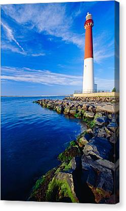 Barnegat Lighthouse Long Beach Island New Jersey Canvas Print by George Oze