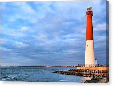 Navigation Canvas Print - Barnegat Lighthouse by Olivier Le Queinec