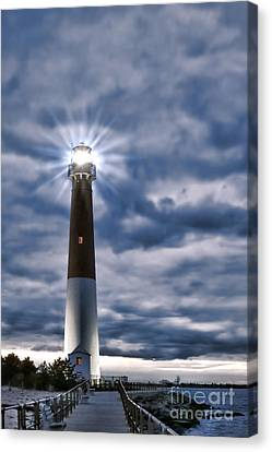 Canvas Print featuring the photograph Barnegat Magic by Olivier Le Queinec