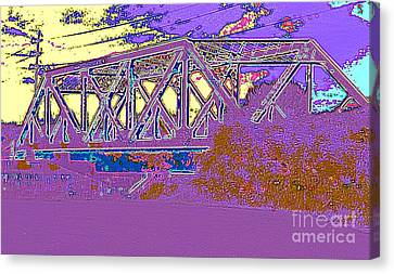 Barnes Ave Erie Canal Bridge Canvas Print