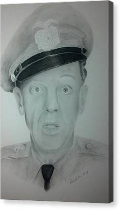 Don Knotts Canvas Print - Barney Fife by Don Cartier