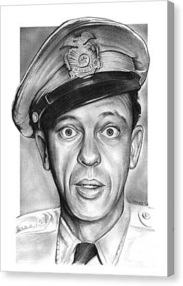 Carolina Canvas Print - Barney Fife by Greg Joens