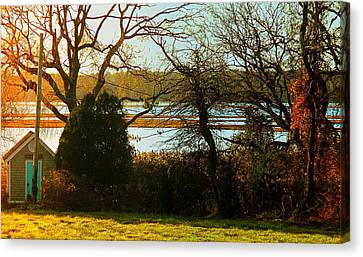 Barneys Joy Road Out Back Evening Canvas Print by Kathy Barney