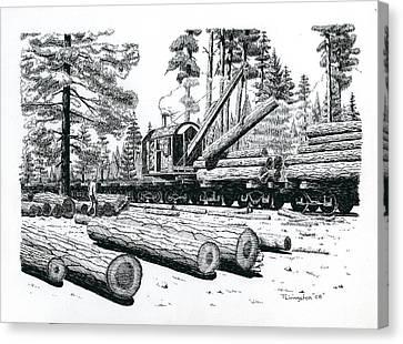 Barnhart Log Loader Canvas Print