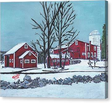 Barns At The Warren Conference Center Canvas Print by Cliff Wilson