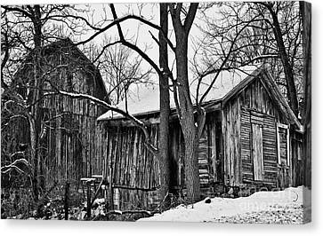 Canvas Print featuring the photograph Barns by JRP Photography