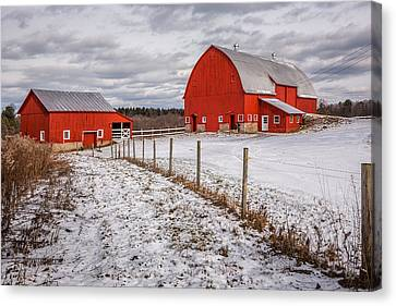 Barns Of New York Canvas Print by Everet Regal