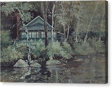 Barnstead Summer Cottage Canvas Print by Joy Nichols