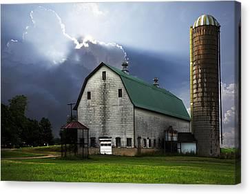 Barn Storm Canvas Print - Barnstormer by Debra and Dave Vanderlaan