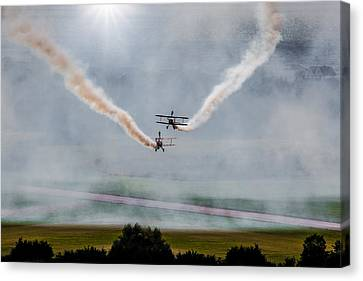 Canvas Print featuring the photograph Barnstormer Late Afternoon Smoking Session by Chris Lord