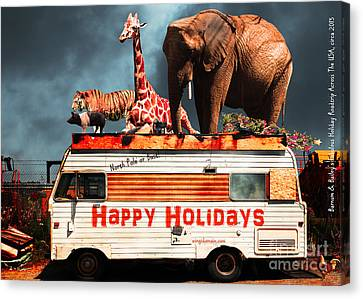 Barnum And Bailey Fabulous Holiday Roadtrip Across The Usa Circa 2013 5d22705 Canvas Print by Wingsdomain Art and Photography