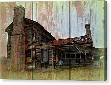 Barnwood Mansion Canvas Print by Marty Koch