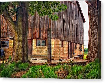 Rain Barrel Canvas Print - Barnyard 2 by Steve Harrington