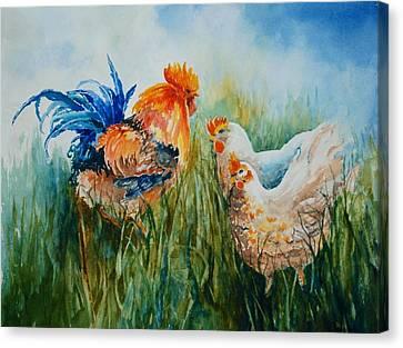 Barnyard Family Canvas Print