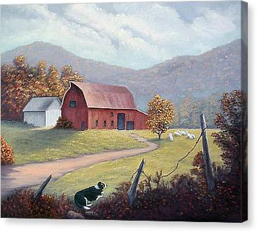 Barnyard Sentinel Canvas Print by Fran Brooks