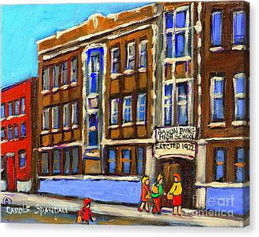 Baron Byng High School 4251 St. Urbain Street Plateau Montreal City  Scene Carole Spandau Montreal A Canvas Print