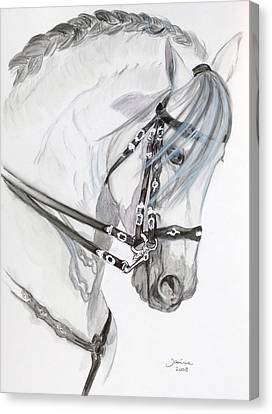 Baroque Horse Canvas Print by Janina  Suuronen