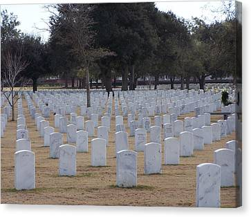 Canvas Print featuring the photograph Barrancas National Cemetery by Michele Kaiser