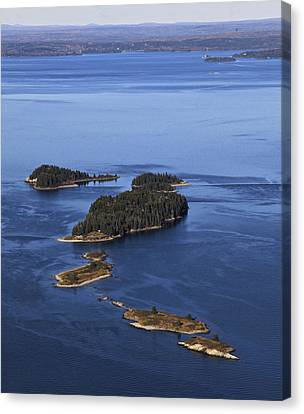 Barred Islands, Penobscot Bay Canvas Print by Dave Cleaveland
