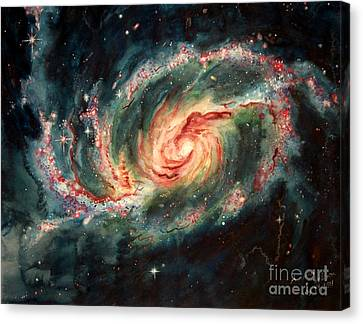 Barred Spiral Galaxy Canvas Print