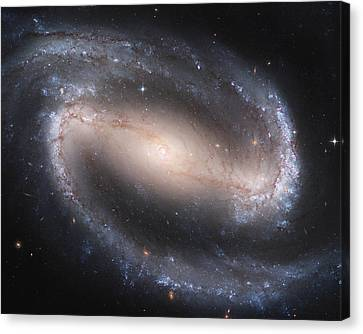 Barred Spiral Galaxy Canvas Print by Nasa