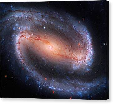 Barred Spiral Galaxy Ngc 1300 Canvas Print by Don Hammond