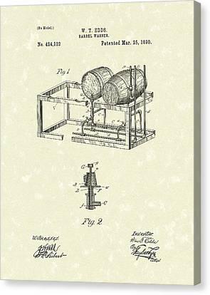 Barrel Warmer 1890 Patent Art Canvas Print