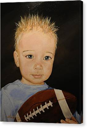 Canvas Print featuring the painting Barrett by Alan Lakin