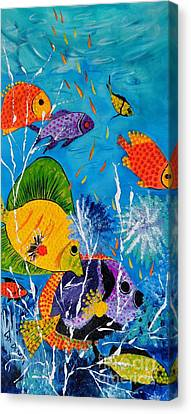 Barrier Reef Fish Canvas Print by Lyn Olsen