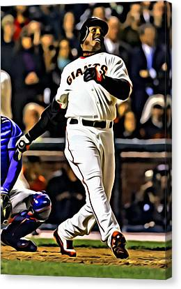 San Francisco Giants Canvas Print - Barry Bonds Canvas by Florian Rodarte