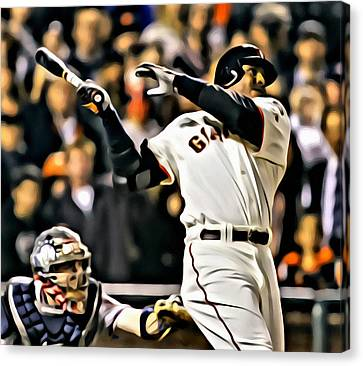 San Francisco Giants Canvas Print - Barry Bonds Painting by Florian Rodarte