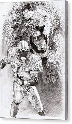 Barry Sanders Canvas Print - Barry Sanders by Jonathan Tooley