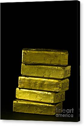 Bars Of Gold Canvas Print by Edward Fielding