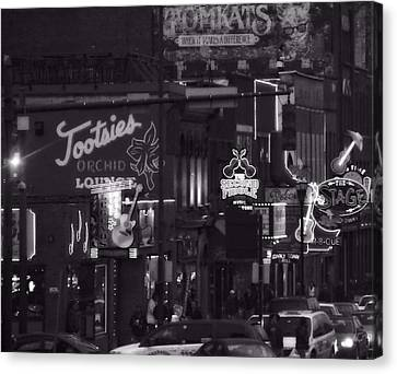 Bars On Broadway Nashville Canvas Print